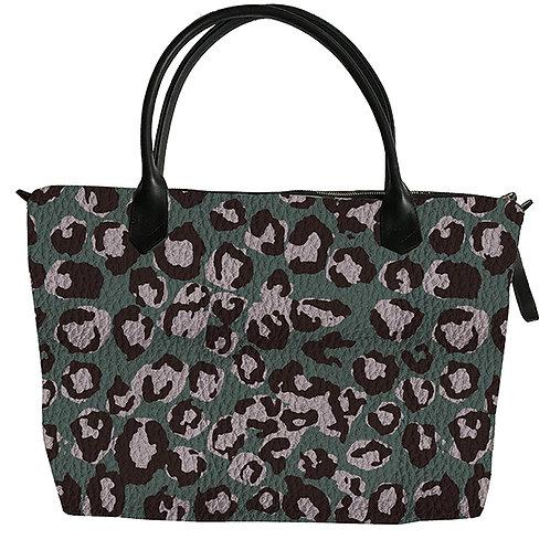 """""""Arusha"""" zipped shopping bag, 4 colors."""