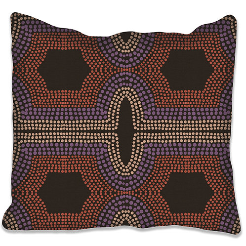 "Coussin ""Toko"" 40x40  col terracotta. 4 supports différents."