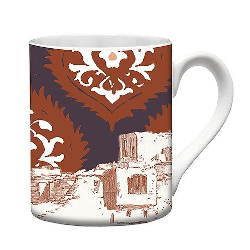 """Tasse en porcelaine """"Fez""""  col terracotta"""