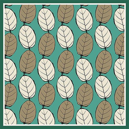 """Foulard """"Milles feuilles"""" en soie, 4 coloris, 2 tailles."""
