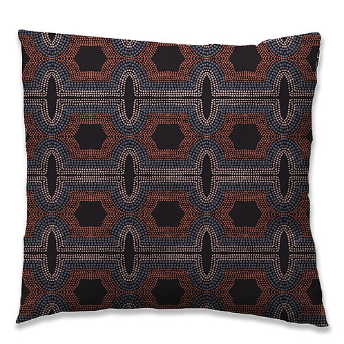 """Toko"" cushion 40x40 terracotta neck. 4 different supports."