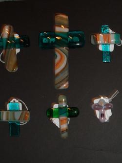 MODERN FUSED GLASS CROSSES