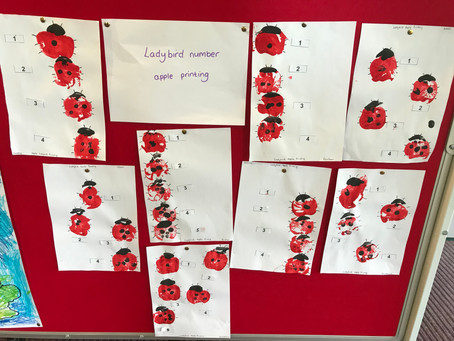 Ladybird Number Apple Printing