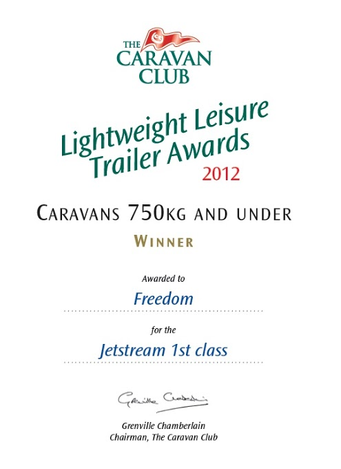 2012 Jetstream 1st Class Award