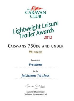2012 Jetstream 1st Class Award