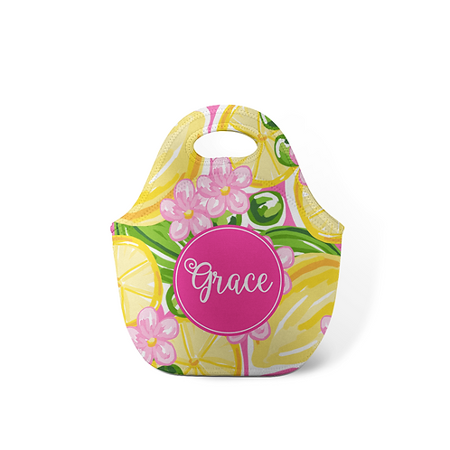 Lemonade - Personalized Lunch Tote