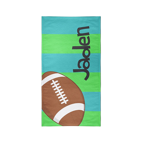 Football - Personalized Beach Towel