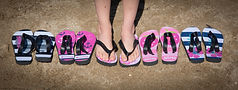Personalized Flip Flops personalized beachwear personalized summer gifts
