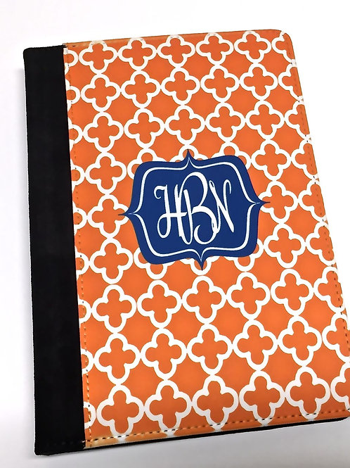 Personalized iPad Mini Folio Case - Orange Clubs