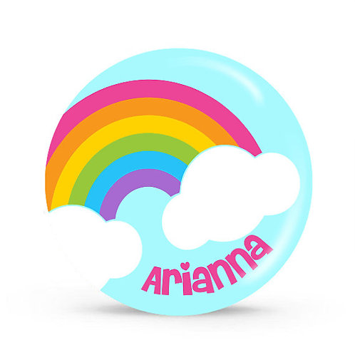 Over the Rainbow - Personalized Plate For Kids