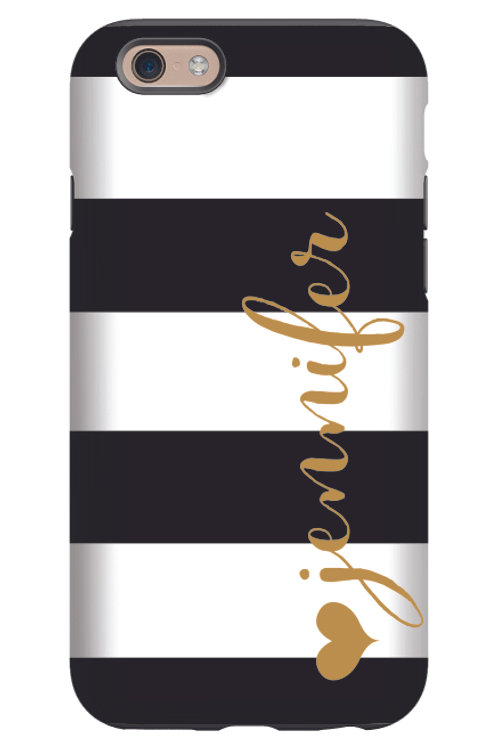 Jennifer Stripes - Personalized iPhone 7 Case