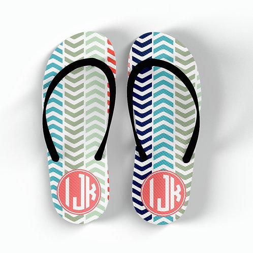 Herringbone - Personalized Flip Flops