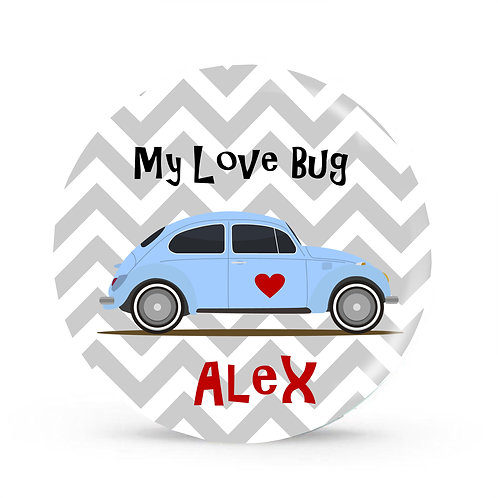 Love Bug - Personalized Valentines Plate For Kids