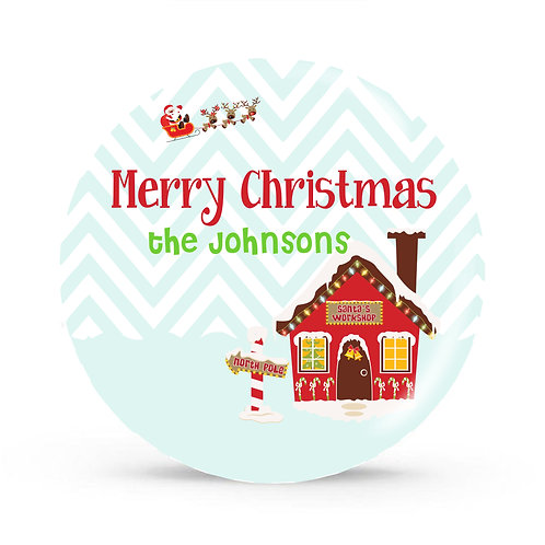 North Pole - Personalized Christmas Plate