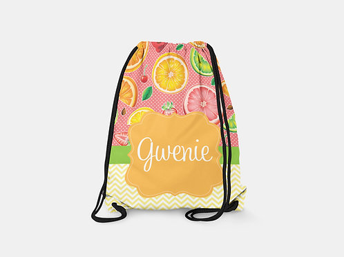 Fruit Salad - Personalized Draw String Bag
