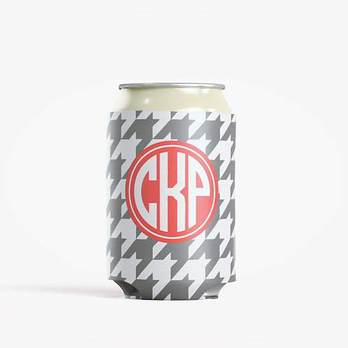 Houndstooth  - Personalized Can Insulator Coolie