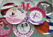 Personalized Plates for Girls Personalized Plates for Boys