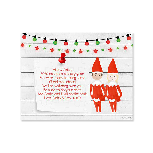 Twin Elves- Personalized Christmas Puzzle