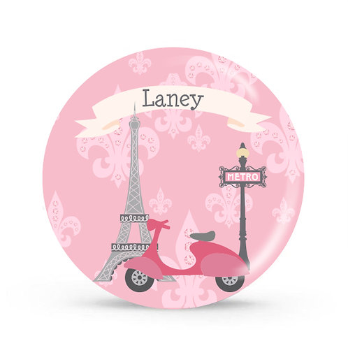 Paris - Personalized Plate For Kids