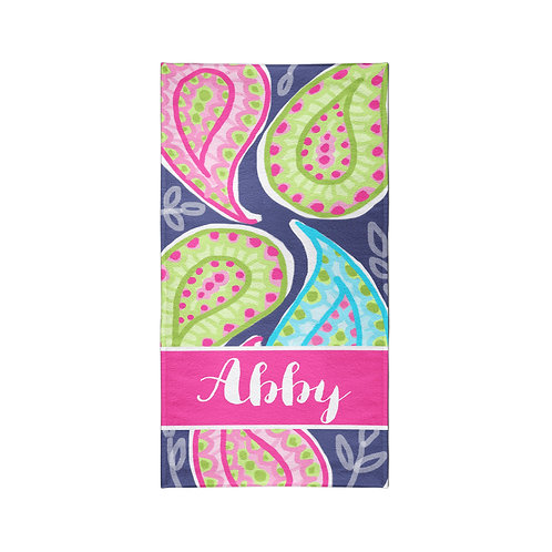 Paisley - Personalized Beach Towel