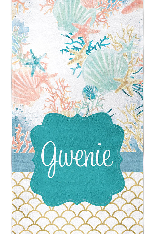 Under the Sea - Personalized Beach Towel