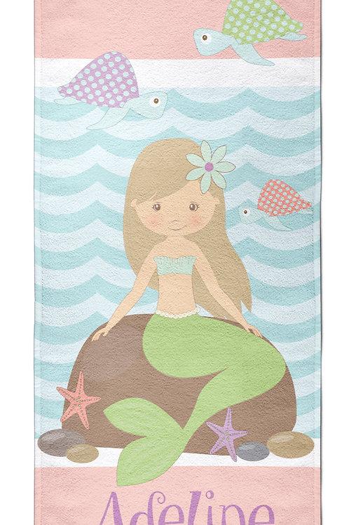 Lil Mermaid- Personalized Beach Towel