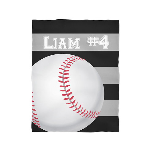Baseball - Personalized Christmas Throw Blanket
