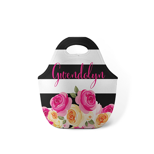 Flowers - Personalized Lunch Tote