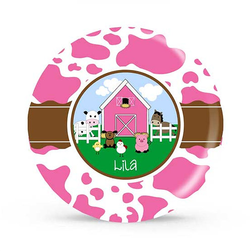 Farm Girl - Personalized Plate For Kids