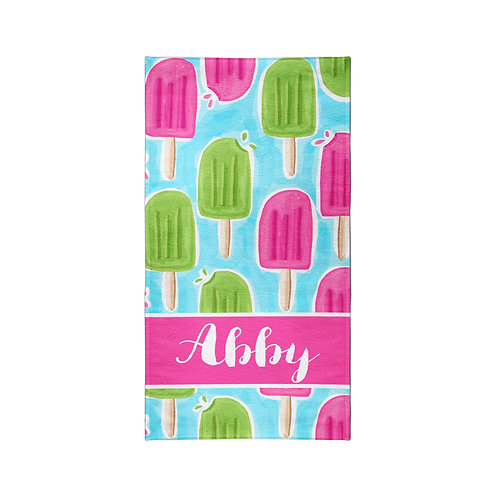Popsicle- Personalized Beach Towel