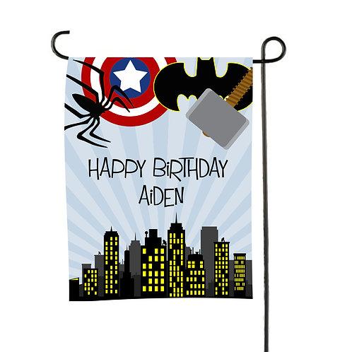 Avenger - Personalized Birthday Garden Flags