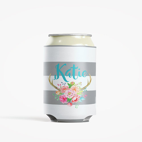 Antlers - Personalized Can Insulator Coolie