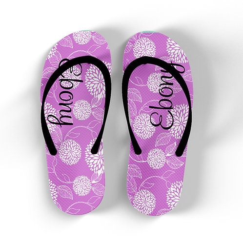 Floral Burst - Personalized Flip Flops