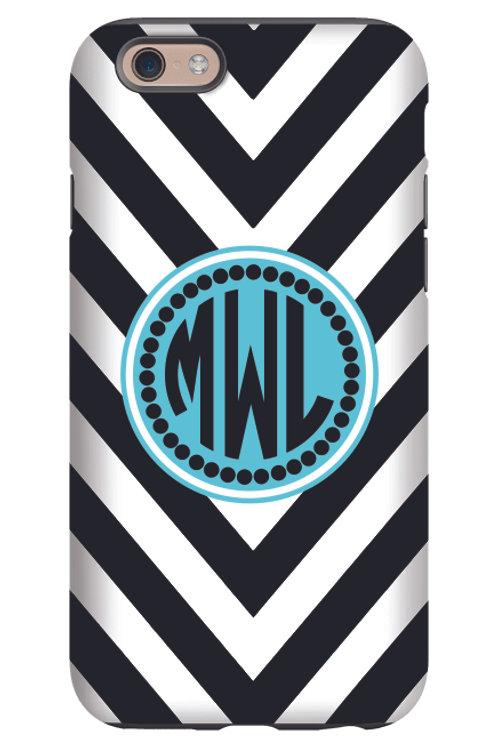 Black Chevron - Personalized iPhone 6 Case #171