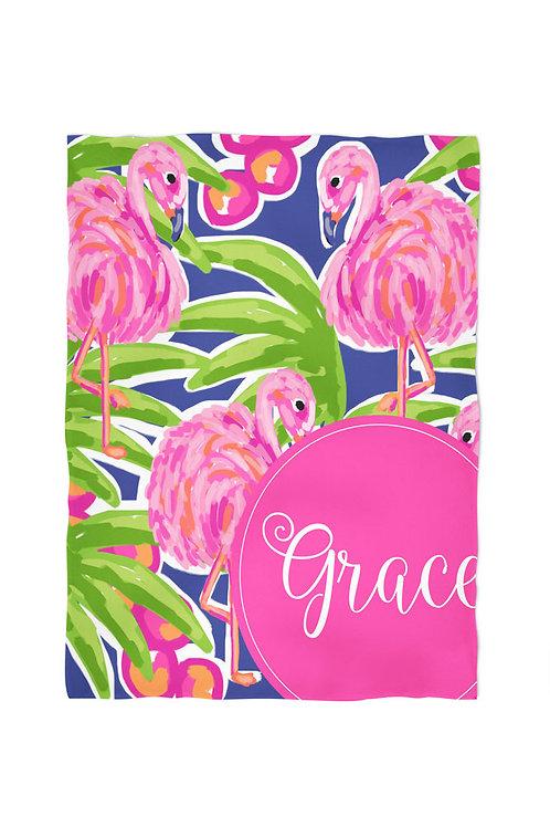 Flamingo - Personalized Throw Blanket