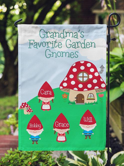 Garden Gnomes - Personalized Garden Flag