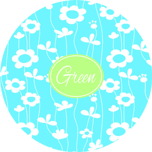 Spring Flowers - Personalized Round Cutting