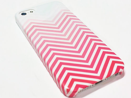 Red Chevron - iPhone Wrap Around Cell Phone Case