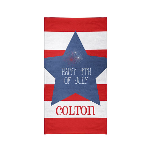 American Star - Personalized Beach Towel