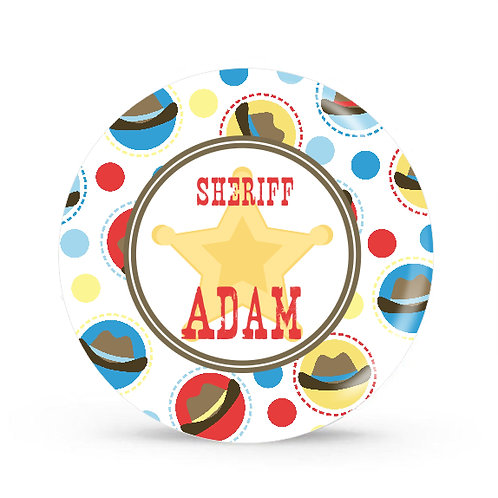 Sheriff - Personalized Plate For Kids