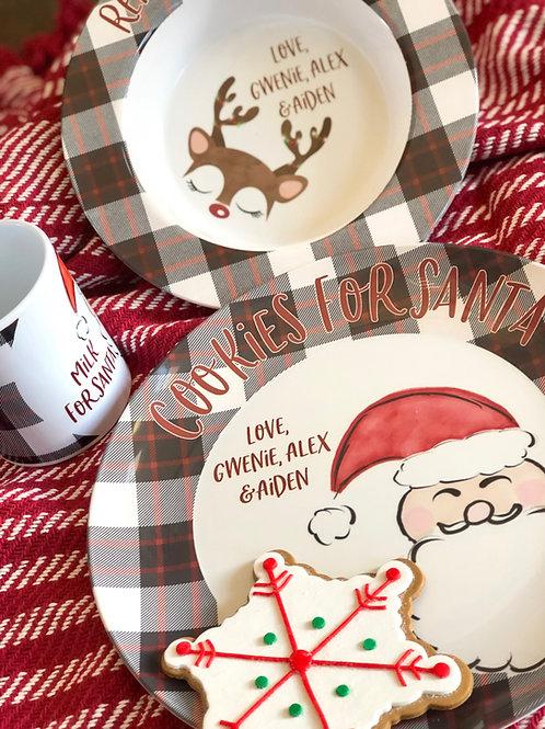 Cookies for Santa Set - Watercolor Santa
