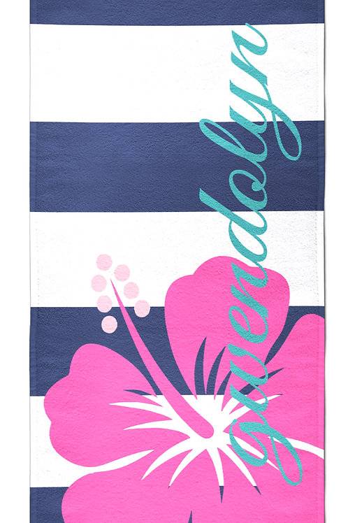 Hibiscus - Personalized Beach Towel