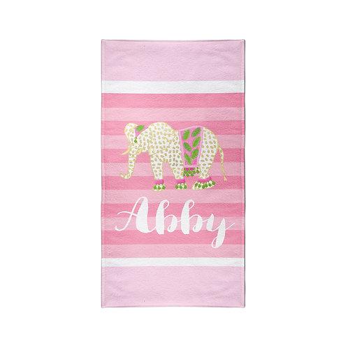 Elephant - Personalized Beach Towel