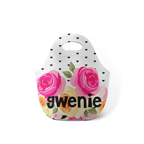 Rose Dots - Personalized Lunch Tote