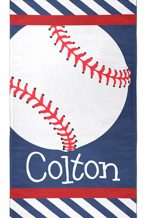 Play Ball - Personalized Beach Towel