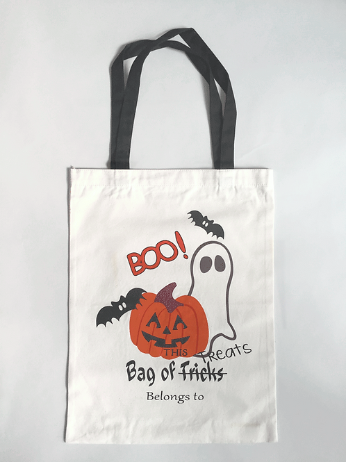 Boo! - Personalized Canvas Halloween Tote