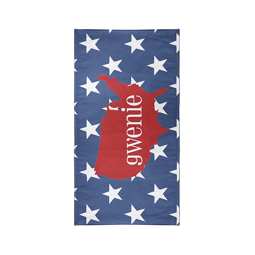 America - Personalized Beach Towel