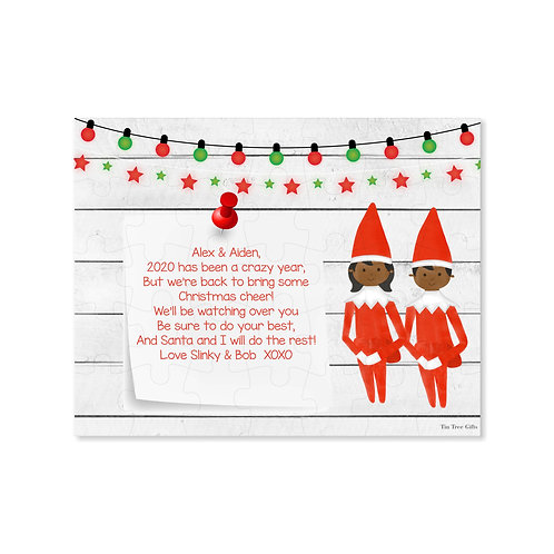 Twin Elves - Personalized Christmas Puzzle