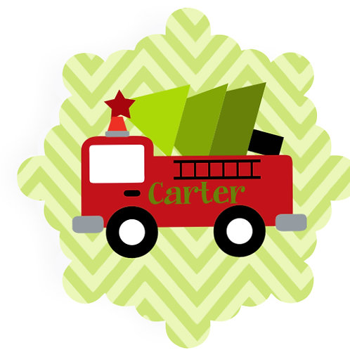 Tree Truckin' - Personalized Christmas Ornament