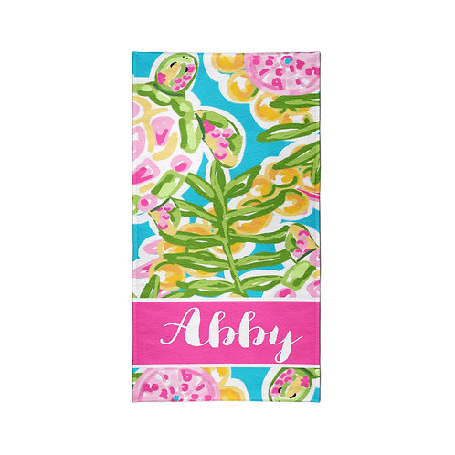 Sea Turtle - Personalized Beach Towel